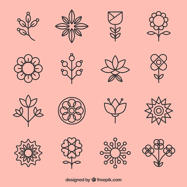 Flower icons Vector | Free Download