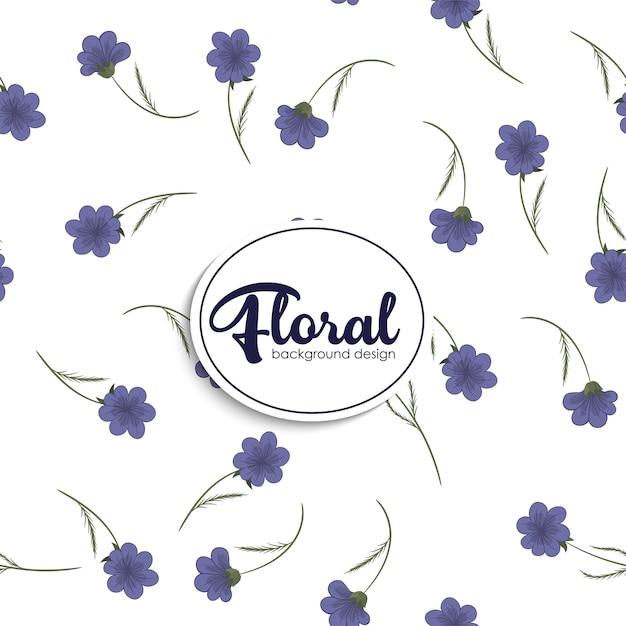 Flower illustration pattern. floral vector Free Vector