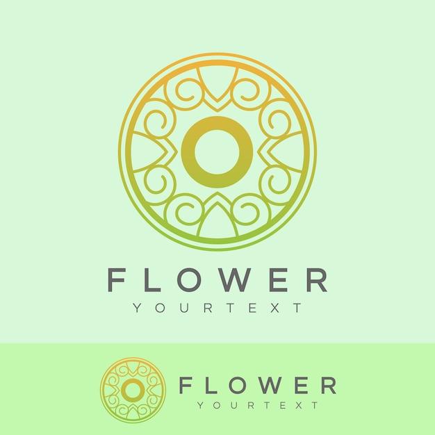 flower initial Letter O Logo design Premium Vector