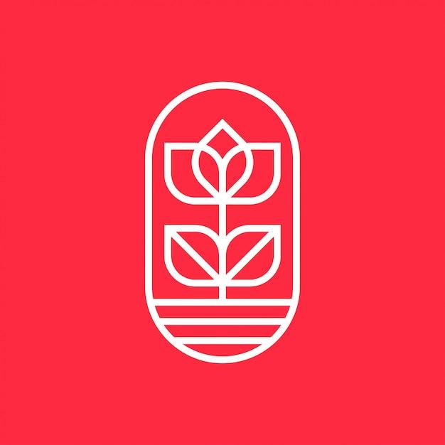 Flower logo design concept. universal flower design. Premium Vector