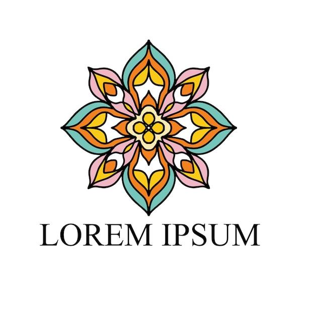 Цветочный дизайн логотипа Premium векторы