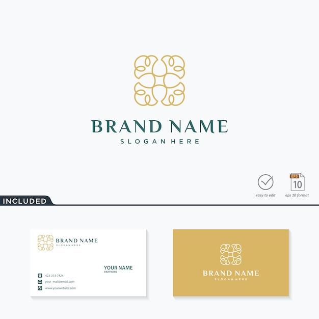 Flower logo inspiration Premium Vector