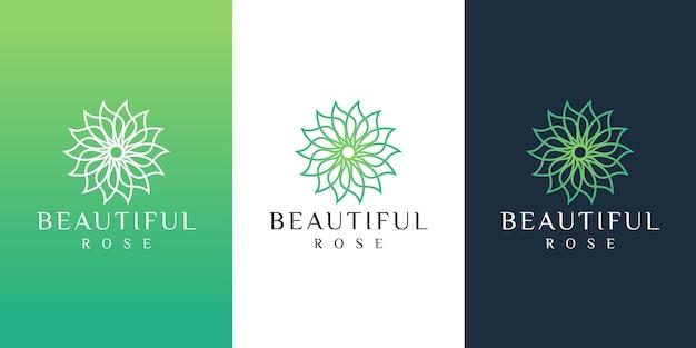 花のロゴ Premiumベクター