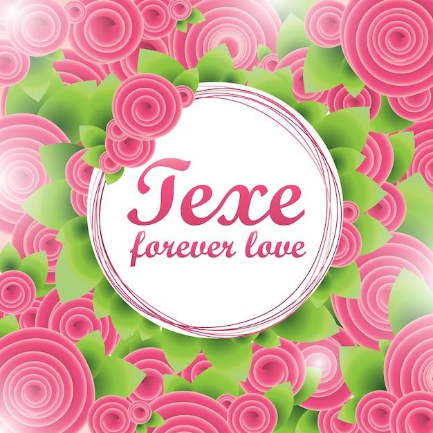 Flower love banner Premium Vector