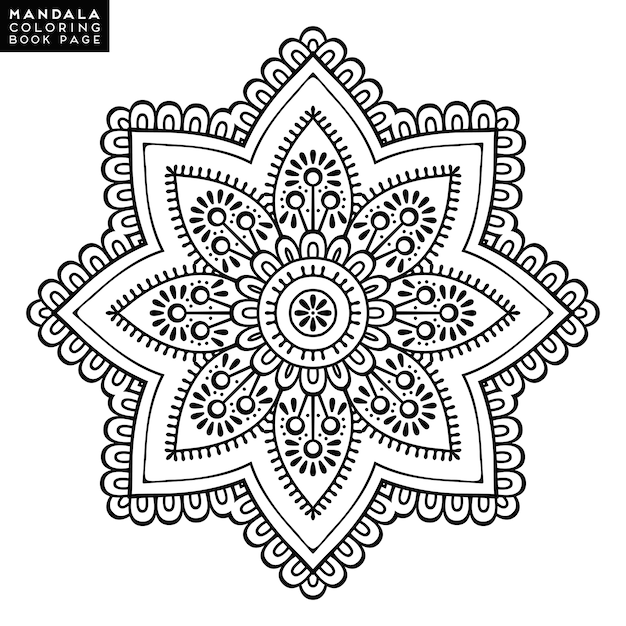 Books Mystical Mandala Coloring Pages Flower Vintage Decorative Elements Pattern