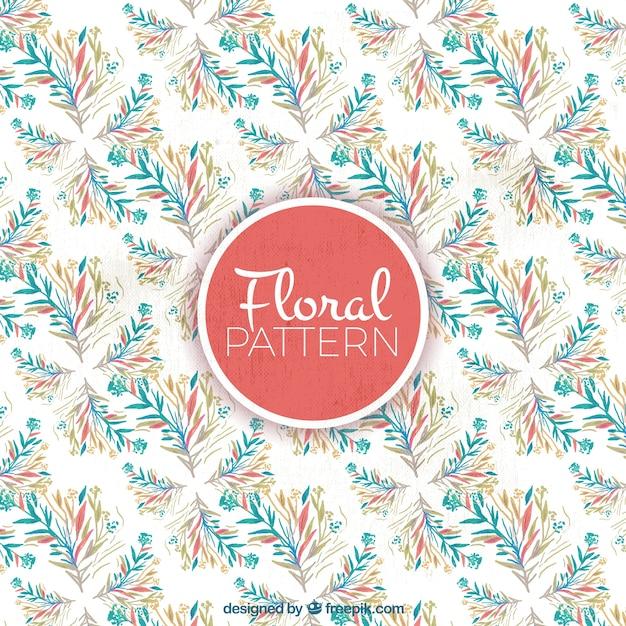 Flower pattern in watercolor style