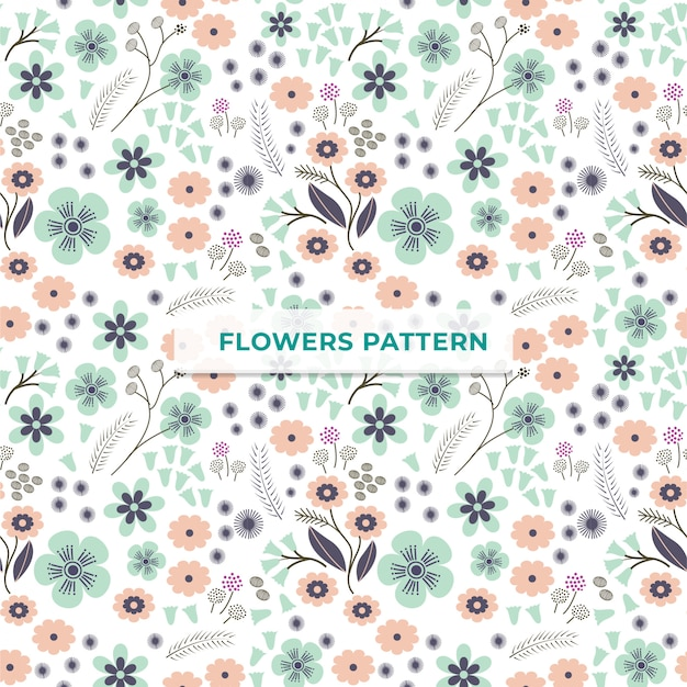 Flower pattern template Premium Vector