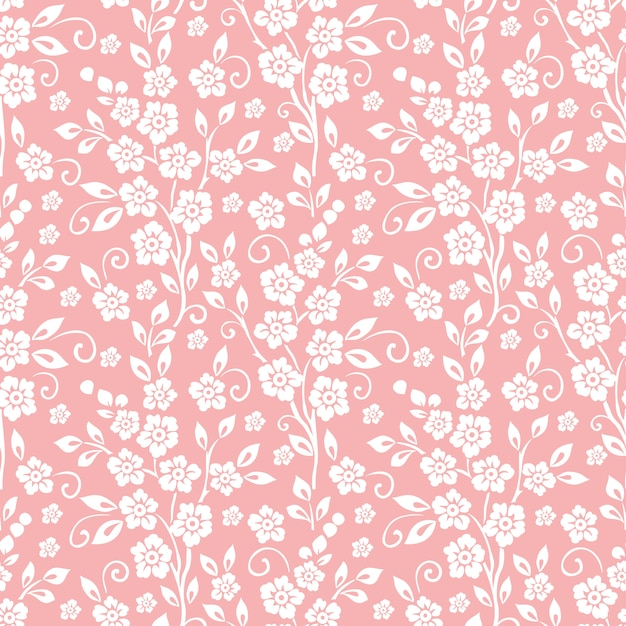 Flower seamless pattern background. elegant texture for backgrounds. Free Vector