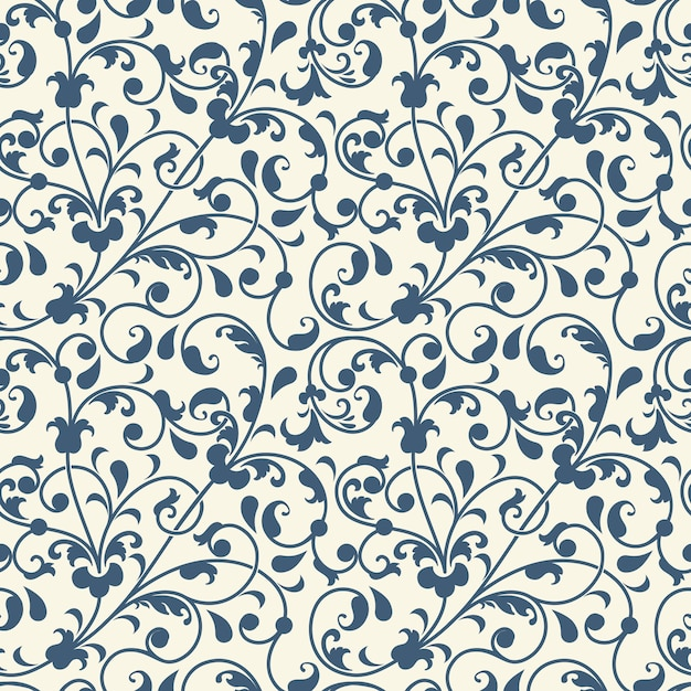 flower seamless pattern background Free Vector