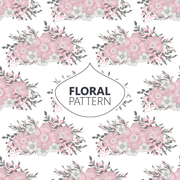 Flower seamless pattern vintage style Free Vector