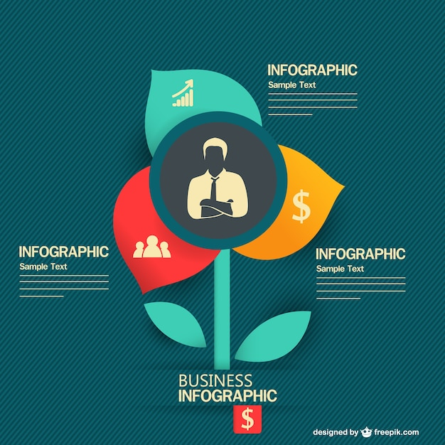 Infographic Ideas infographic template education : Flower shape infographic business template Vector | Free Download