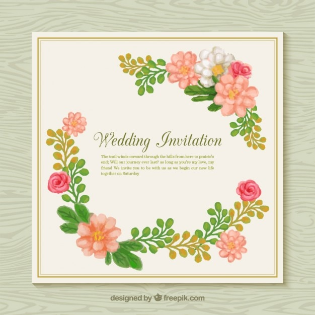 Flower Svg Library Download For Wedding Invitations: Flower Wedding Invitation Vector