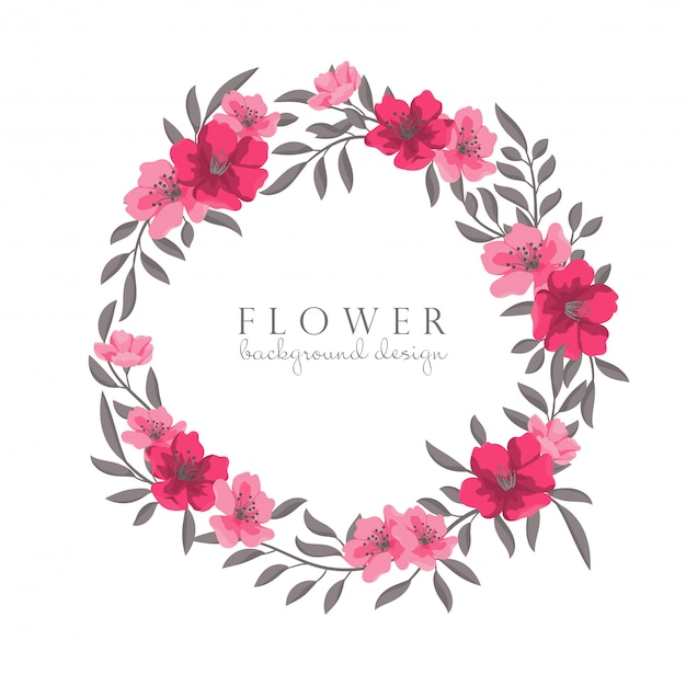 Рисование цветочных венков Бесплатные векторы