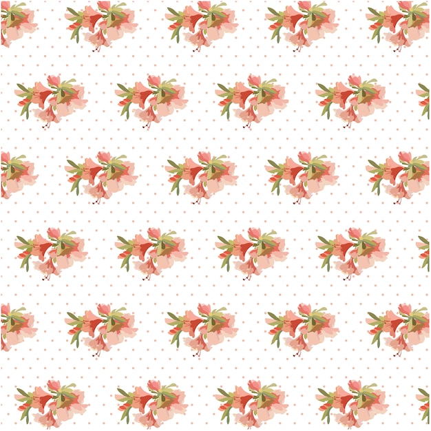 Flowers and small dots pattern\ background
