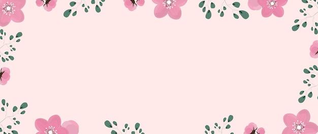 日付の図を保存するための花の背景 Premiumベクター