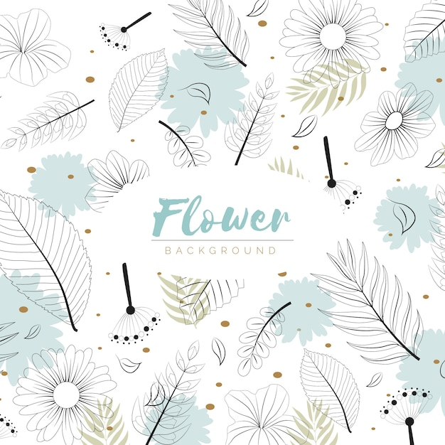 Flowers background in hand drawn style Free Vector