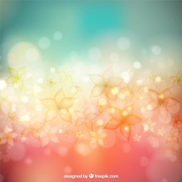 Bokeh Flowers Wedding: Flowers Background In Bokeh Style Vector