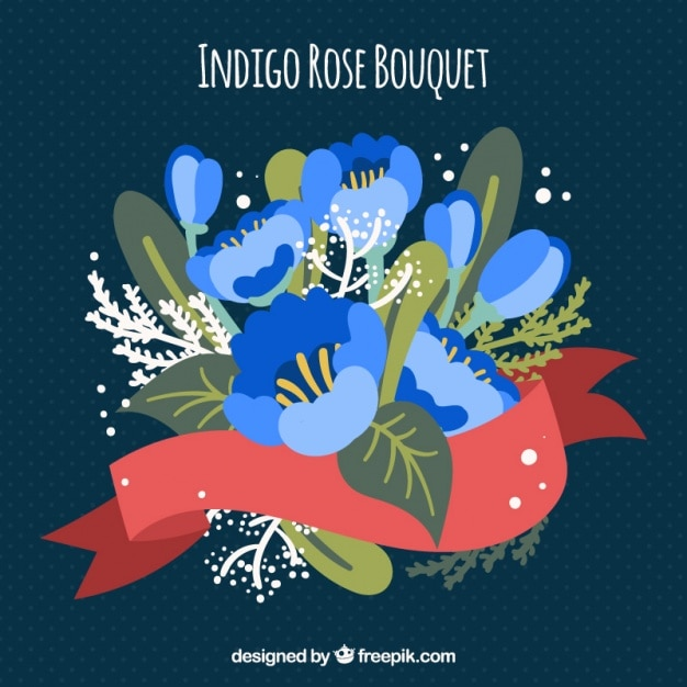 Flowers bouquet indigo