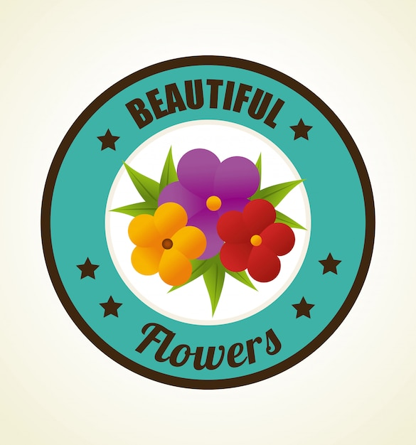 Flowers design illustration Free Vector