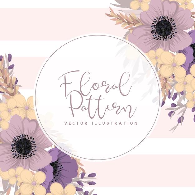 Flowers frame template. Premium Vector
