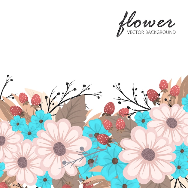 Flowers frame template. Premium Vector