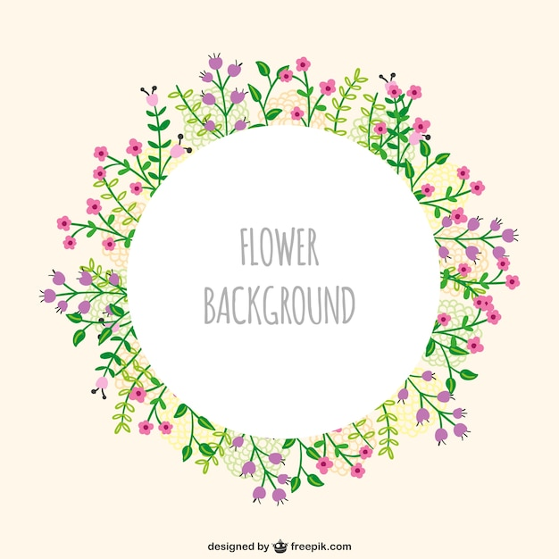 Flowers frame vector Vector | Free Download