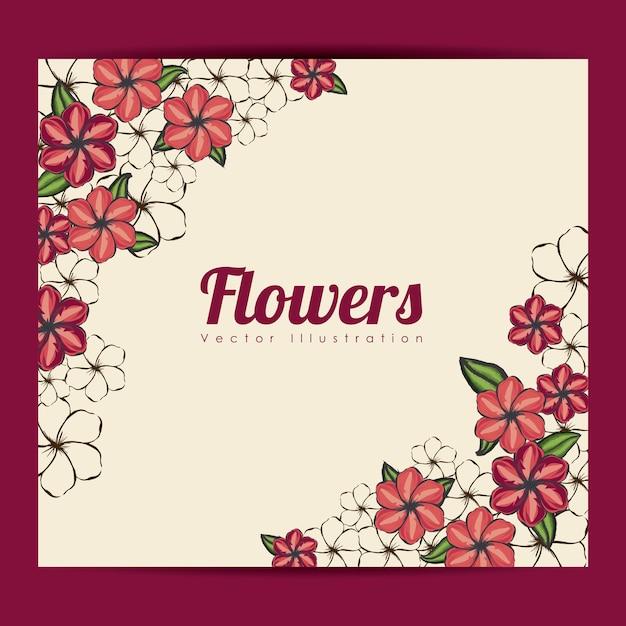 Flowers frame Premium Vector