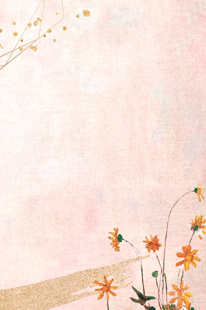 Flowers on a pastel canvas Free Vector
