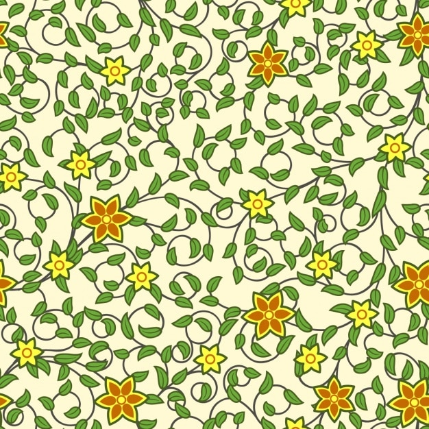 Flowers pattern design Free Vector