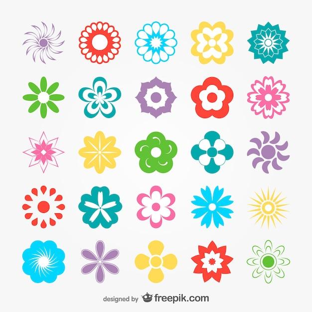 Flowers Set Download Vector Free Download