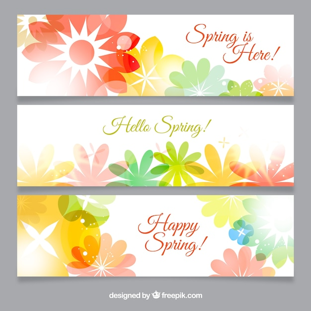 Flowers spring banners pack