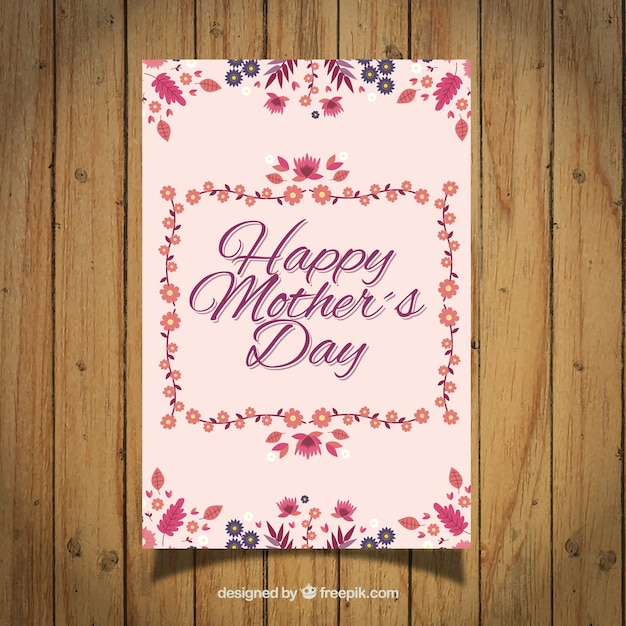 Flowery mother\'s day card