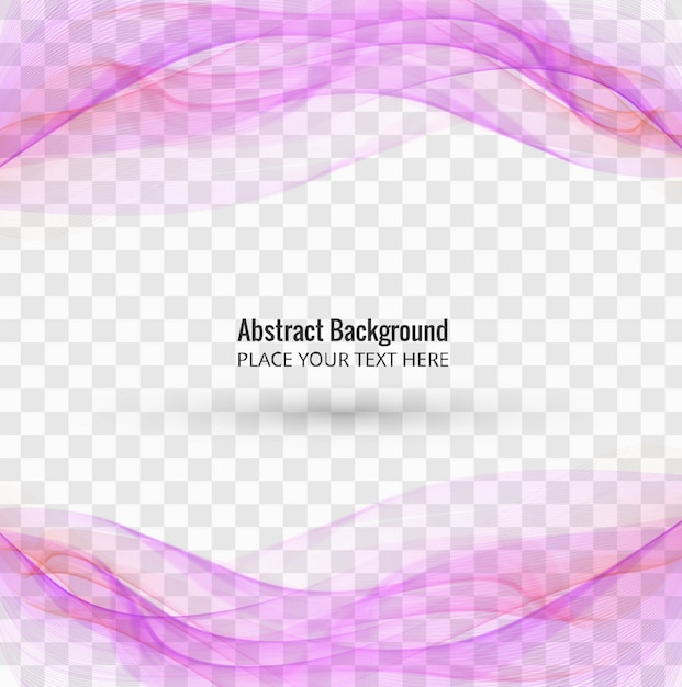 Flowing purple wavy shapes on transparent background Free Vector