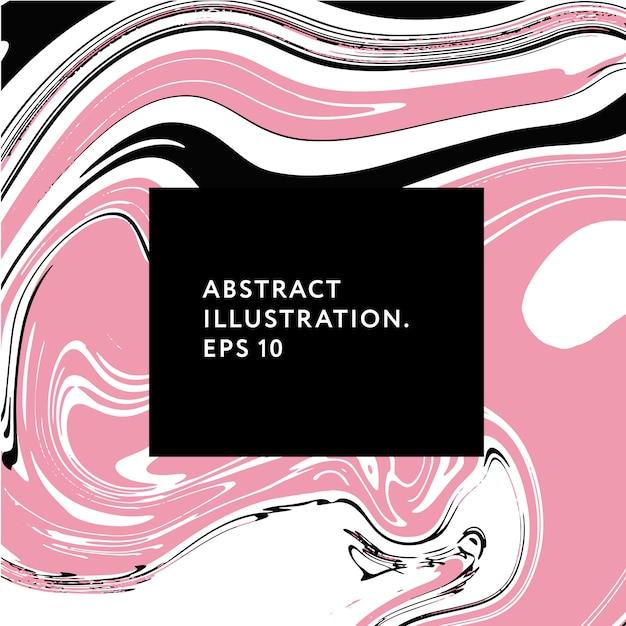 Fluid art memphis hipster glitch elements vector illustration graphic Premium Vector