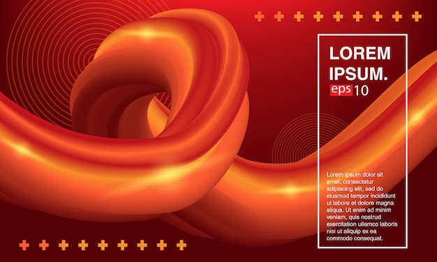 Fluid background. banner red fluid. color covers set. Premium Vector