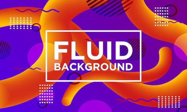 Fluid background memphis style templates Premium Vector