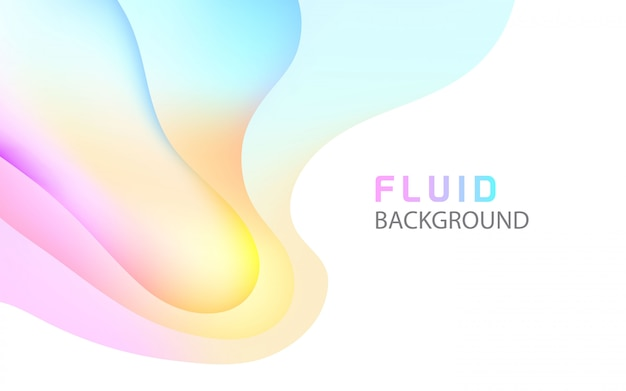 Fluid bright abstract background Premium Vector