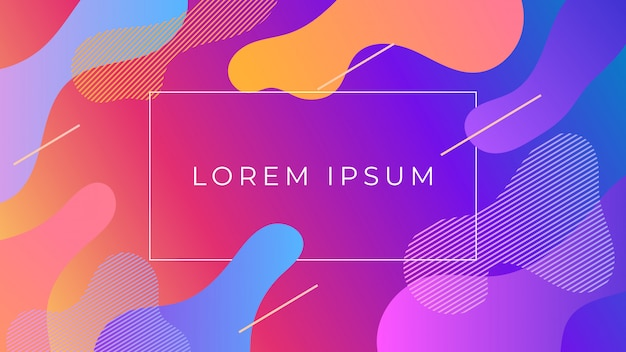 Fluid colorful holographic gradient abstract background Premium Vector