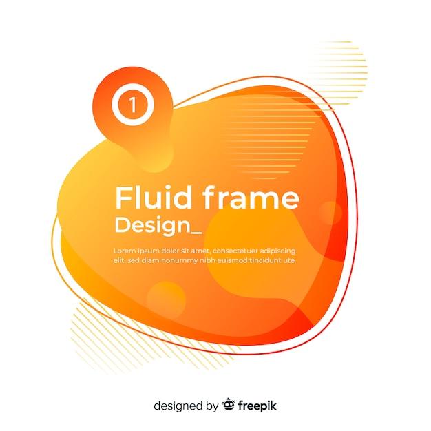 Fluid frame design Free Vector