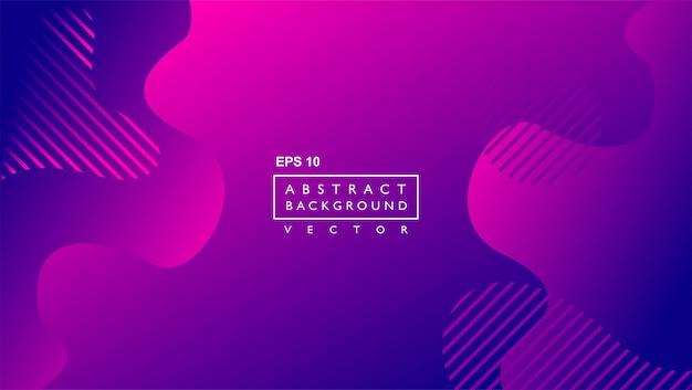 Fluid gradient background template. lilac Premium Vector