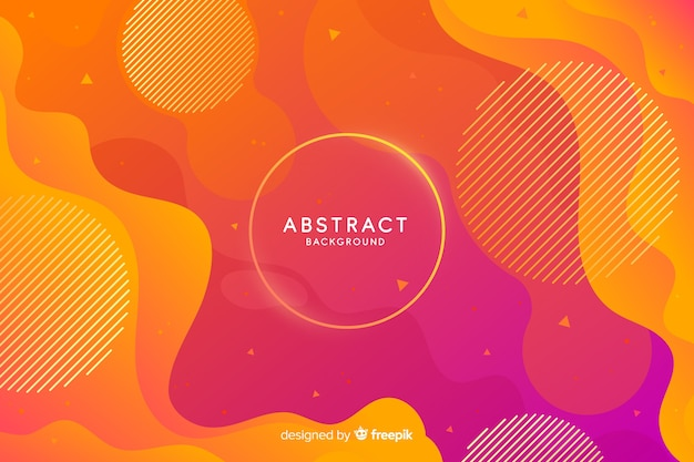 Fluid gradient shapes background Free Vector