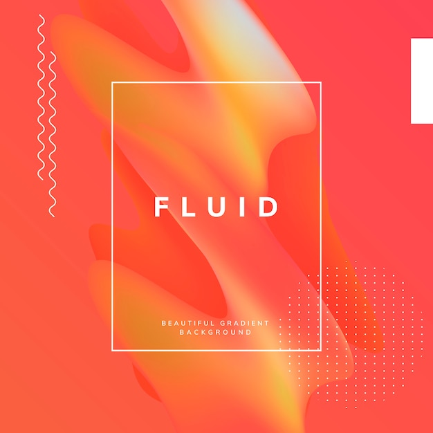 Fluid gradient wallpaper design Free Vector