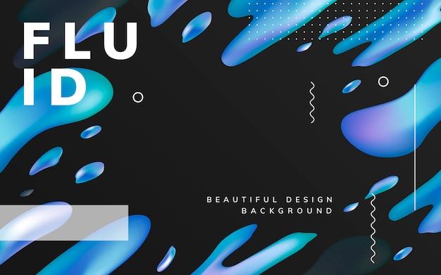 Fluid gradient wallpaper design Free Vector