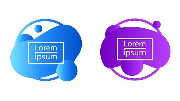 Fluid liquid gradient bubble blob abstract shape Premium Vector