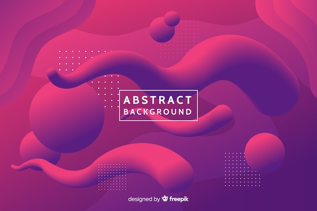 Fluid shapes background Free Vector