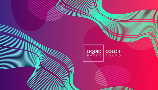 Fluid shapes composition for web brochure Premium Vector