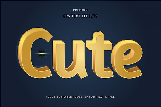 Fly 3d text effect  fly text style Premium Vector