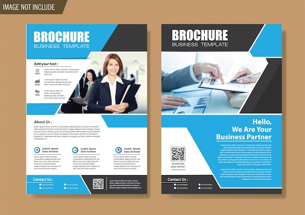Flyer and brochure template for design annual report Premium Vector