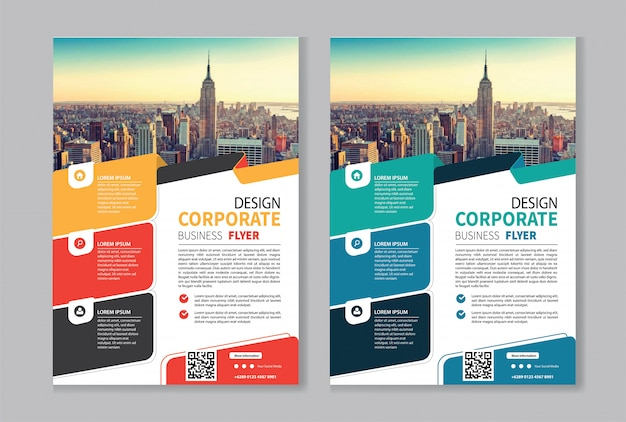 Flyer business template for cover brochure corporate Premium Vector