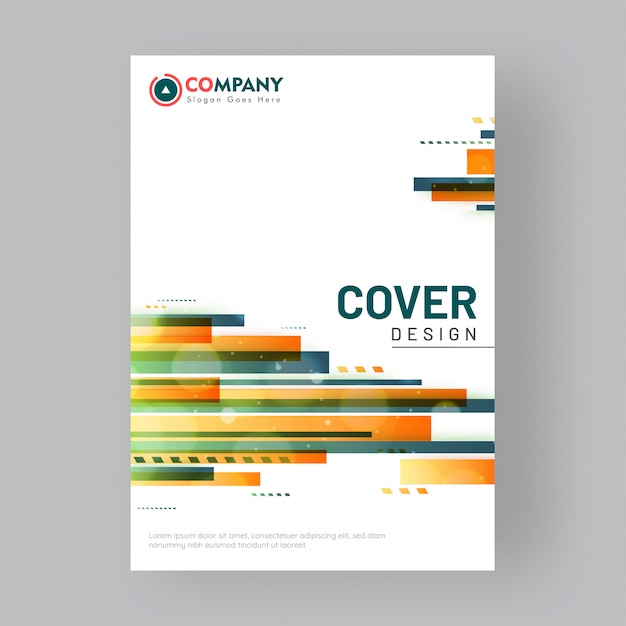 Flyer or cover design for business Premium Vector